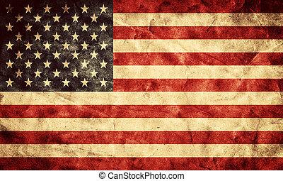 grunge, usa, flag., szüret, cikk, zászlók, retro, gyűjtés, az enyém