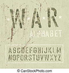 grunge, vektor, eps10., alphabet., álcáz