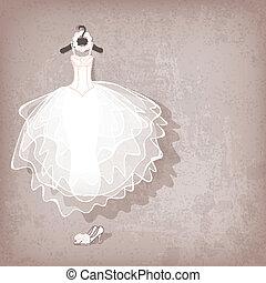 grungy, ruha, háttér, esküvő