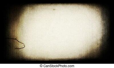 grungy, vetítőgép, screen., film, retro