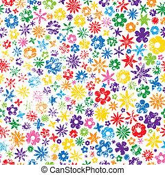 grungy, virág, színes, háttér