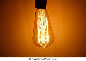gumó, lámpa, meleg, fény