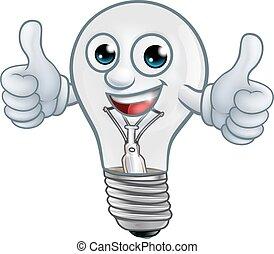 gumó, lightbulb, karikatúra, fény, kabala, betű