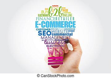 gumó, szó, felhő, e-commerce, fény