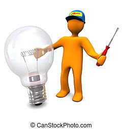 gumó, villanyszerelő