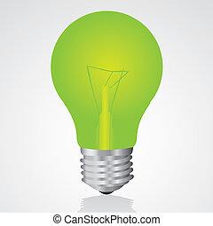 gumó, zöld csillogó