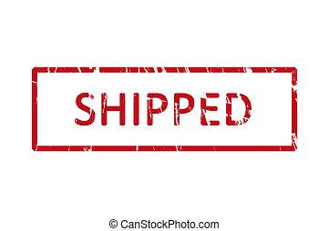 gumi bélyegző, shipped