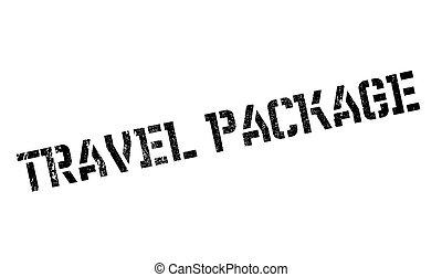 gumi bélyegző, utazás, csomag