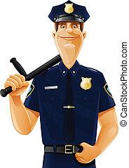 gumibot, rendőr