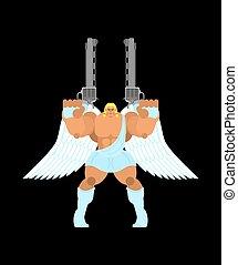 gun., harcos, archangel., angyal, gyám, szent, harc, pártfogó
