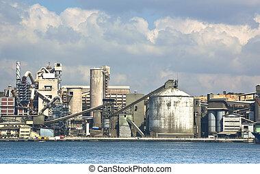 gyár, cement