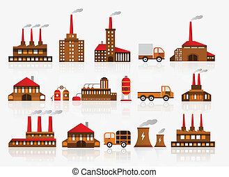 gyár, ikonok