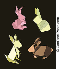gyáva emberek, origami, állhatatos