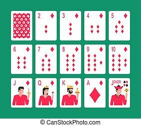 gyémánt öltöny, kártyázás