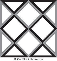 gyémánt, háromszög, elvont, derékszögben, háttér, trydimensional, illúzió