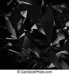 gyémánt, részletez, háttér, struktúra