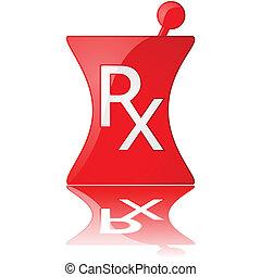 gyógyszertár, ikon