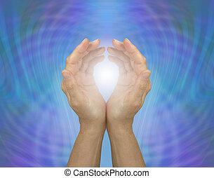 gyógyulás, quantum, lüktető, energia