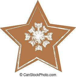 gyömbéres mézeskalács, white christmas, háttér