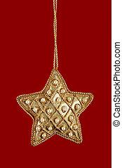 gyöngy, csillag, karácsony, arany