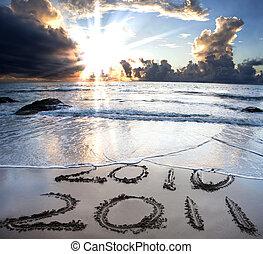 gyönyörű, 2011, tengerpart, 2010, napkelte