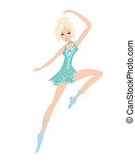 gyönyörű, balett-táncos