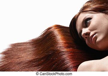 gyönyörű, egészséges, haj