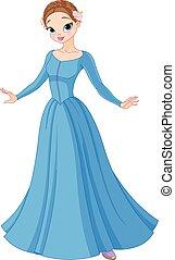 gyönyörű, fairytale, hercegnő