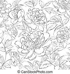 gyönyörű, flowers., ábra, babarózsa