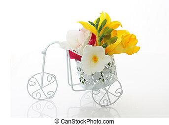 gyönyörű, freesia, menstruáció, csinos, bicikli, szüret
