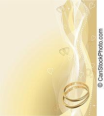 gyönyörű, gyűrű, háttér, esküvő