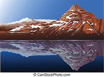 gyönyörű, hegy, háttér