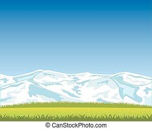 gyönyörű, hegy parkosít