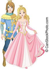 gyönyörű, herceg, hercegnő