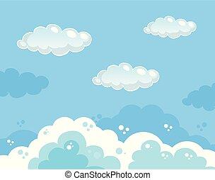 gyönyörű, kék, tiszta égbolt, háttér