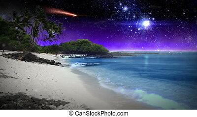 gyönyörű, képzelet, tengerpart