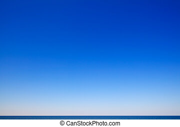 gyönyörű, kilátás a tengerre, kék ég