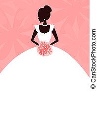 gyönyörű, menyasszony