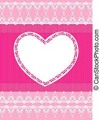 gyönyörű, rózsaszínű, befűz, háttér, szív
