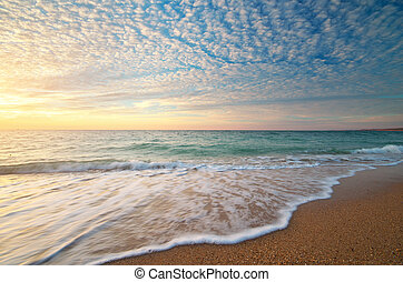 gyönyörű, seascape.