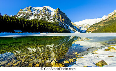 gyönyörű, tó louise