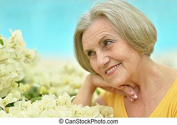 gyönyörű woman, érett