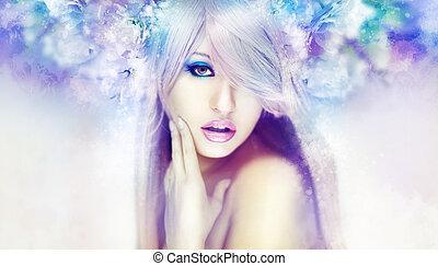 gyönyörű woman, artwork