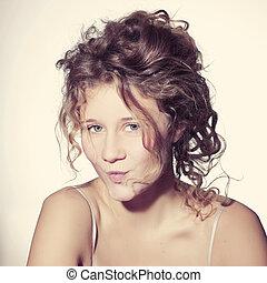 gyönyörű woman, fiatal