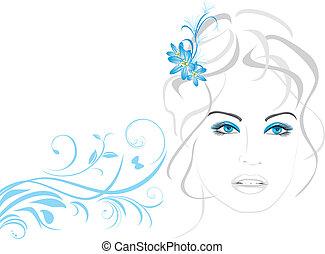 gyönyörű woman, menstruáció
