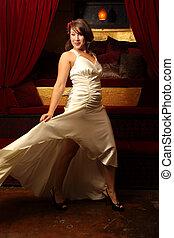 gyönyörű woman, tánc
