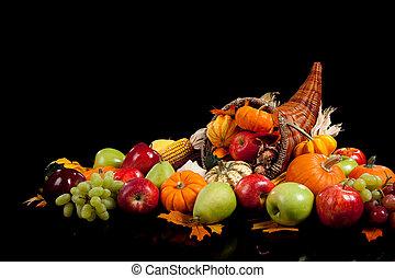 gyümölcs, növényi, bukás, egyezség, bőségszaru