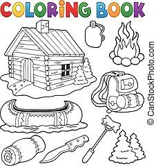 gyűjtés, színezés, külső, könyv, kifogásol