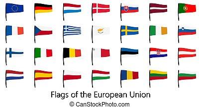 gyűjtés, zászlók, eu