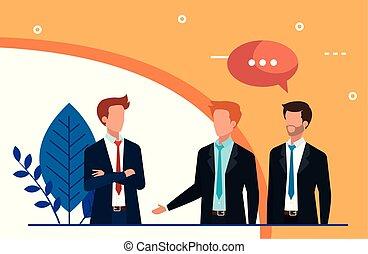 gyűlés, beszéd, businessmen, avatar, betű